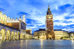 Cloth Hall and old city hall, Krakow, Poland Royalty Free Stock Photography