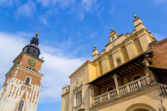 Cloth Hall and Old Town Hall, Krakow, Poland Royalty Free Stock Photography