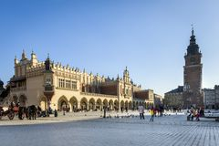 The Cloth Hall (Polish: Sukiennice) in Krakow Royalty Free Stock Photo