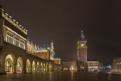 Cloth Hall and Town Hall Tower, Cracow, Poland Royalty Free Stock Photo