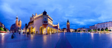 Cloth Hall well known as sukiennice at night. Krakow Poland. Stock Photography