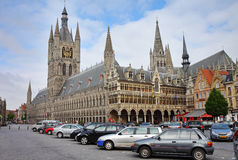 The Cloth Hall in Ypres, Belgium Royalty Free Stock Photo