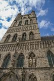 Cloth Hall in Ypres in Belgium stock image
