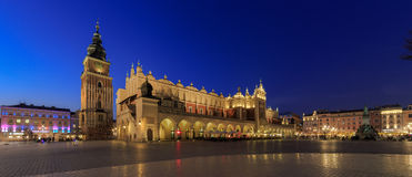 Cloth Halls Krakow. The Cloth Halls aka Tuchhallen at the Main Market Square in Krakow at night Royalty Free Stock Photo