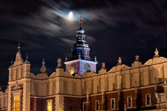Cloth halls in Krakow. Cloth halls and tower of the town hall in Krakow, Poland royalty free stock photo