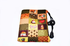 Cloth handbag for mobile Royalty Free Stock Photos