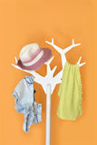 Cloth hanger stand Stock Photography
