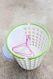 Cloth hanger and wash bag Stock Photo