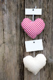 Cloth hearts Stock Image