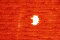 Cloth with hole Royalty Free Stock Photos