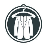 Cloth icon, vector illustration of man jacket. Royalty Free Stock Photography