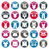 Cloth icons set Stock Image