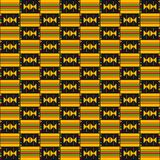 Cloth Kente. African seamless pattern. Textile fashion African print. Tribal seamless pattern. Cloth Kente. Geometric design stock illustration
