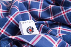 Cloth label advice for your laundry Royalty Free Stock Photography