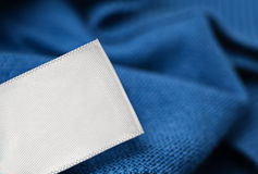 Cloth label laundry care blank mockup Royalty Free Stock Photo