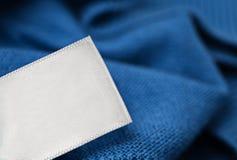 Cloth label laundry care blank mockup Royalty Free Stock Photo