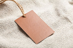 Cloth label tag blank mockup Royalty Free Stock Photo