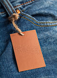 Cloth label tag blank mockup Royalty Free Stock Photography