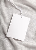 Cloth label tag blank mockup. Cloth label tag blank white mockup Royalty Free Stock Photography