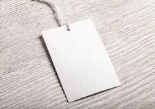 Cloth label tag blank mockup. Cloth label tag blank white mockup royalty free stock photo