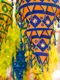 Cloth Lanterns. Colorful tapering tasseled cloth lanterns use in decorations for the Hindu festival of Deepavali or Diwali, or popularly as the Festival of Stock Photography