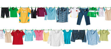 Cloth line. In the air Stock Photo