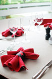 Cloth napkin detail Stock Images