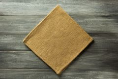 Cloth napkin on rustic background Royalty Free Stock Photography