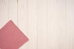 Cloth napkin on white wooden Royalty Free Stock Photos