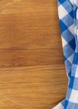 Cloth napkin on wood Stock Photos