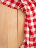 Cloth napkin on wood Stock Photo