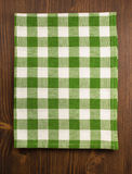 Cloth napkin on wood Stock Photography