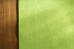Cloth napkin on wood Royalty Free Stock Photography