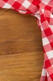 Cloth napkin on wood Royalty Free Stock Photos