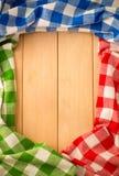 Cloth napkin on wood Royalty Free Stock Photo