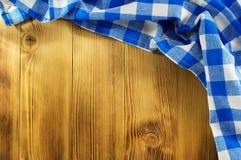 Cloth napkin on wood Royalty Free Stock Image