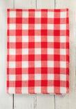 Cloth napkin on wood Stock Photography