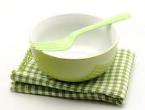 Cloth napkins and kitchen bowl Stock Image