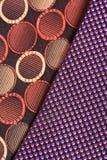 Cloth patterns. Closeup shot of cloth patterns looking beautiful Stock Photography