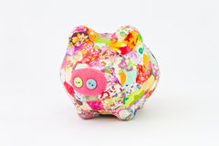 Cloth piggy bank Stock Photos