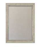 Cloth pinboard in ornate painted frame. Cloth based pinboard or notice board inside a beige painted ornate picture frame isolated against white background Royalty Free Stock Photos