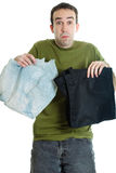 Cloth or Plastic Bags Royalty Free Stock Images