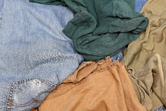 Cloth rags. Bunch of old worn out cloth rags Stock Image