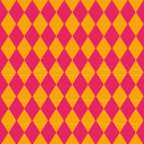 Cloth with red and yellow diamond pattern Royalty Free Stock Images