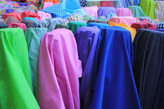 Cloth roll. For example, cotton clothing and a variety of colors Stock Image