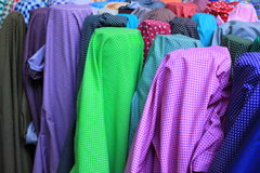 Cloth roll. For example, cotton clothing and a variety of colors royalty free stock images