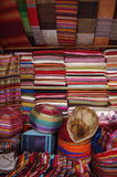 Cloth for sale at market Stock Photos