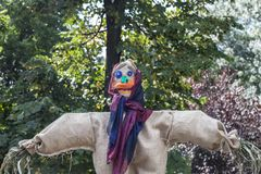 Cloth scarecrow in a fair Stock Images