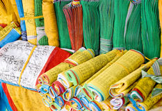 Cloth   with  Scripture. In different colors Stock Images