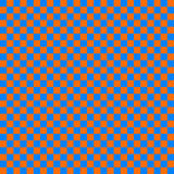 Cloth seamless pattern orange and blue Stock Photography